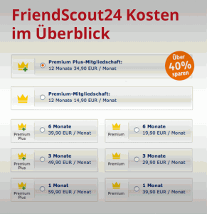 Friendscout24 Website