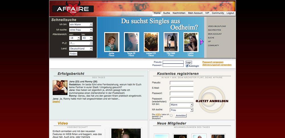 Affaire.com-Anmeldung • Ihr Singlebörsen Vergleich