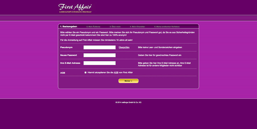 First Affair Test