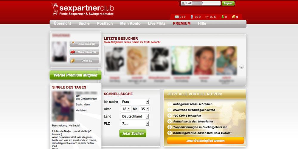 Sexpartnerclub Mitgliederbereich