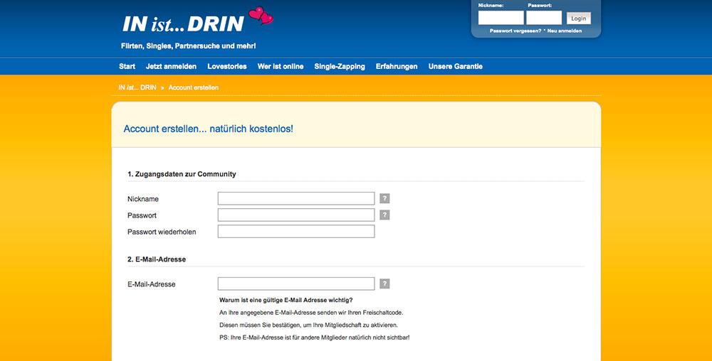IN-ist-DRIN Registrierung