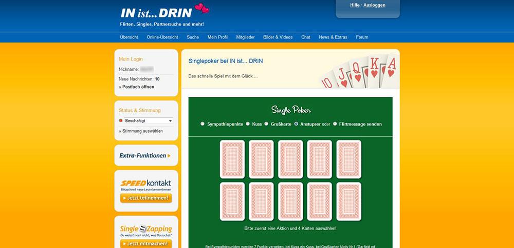IN-ist-DRIN Flirt-Game