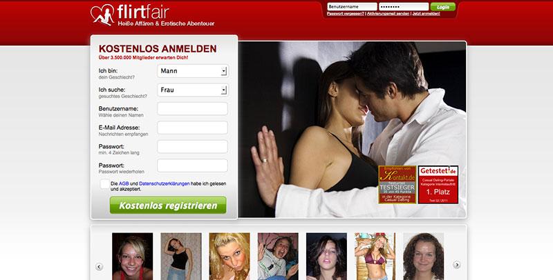 Flirtfair Registrierung
