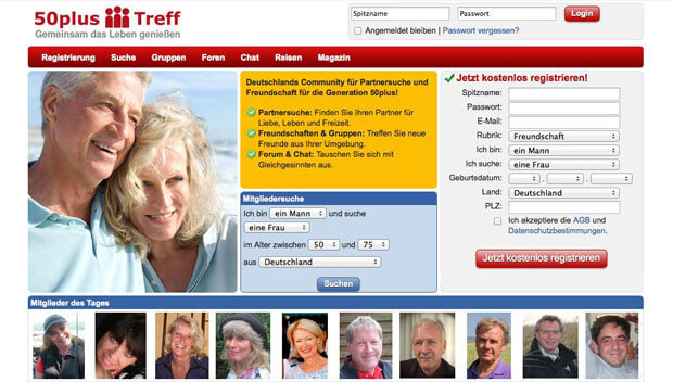 Dating-site für 50 plus