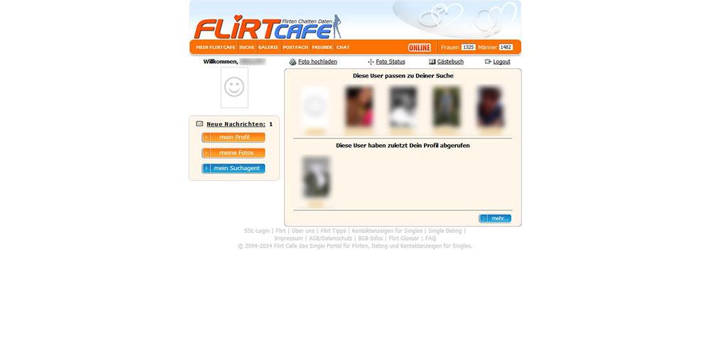 Flirtcafe Mitgliederbereich