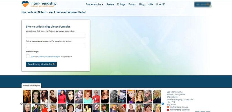 InterFriendship Registrierung