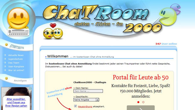 Chatroom2000 Screen