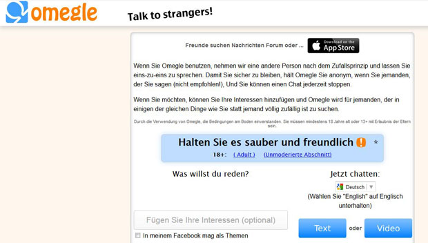 Omegle chat auf deutsch