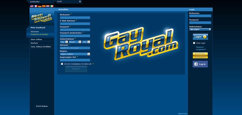 GayRoyal Registrierung