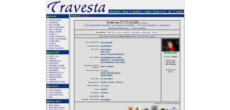 Travesta Profil