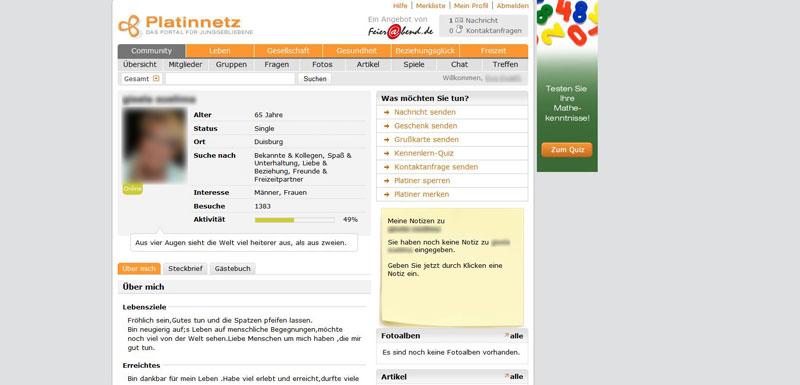 Platinnetz Profil