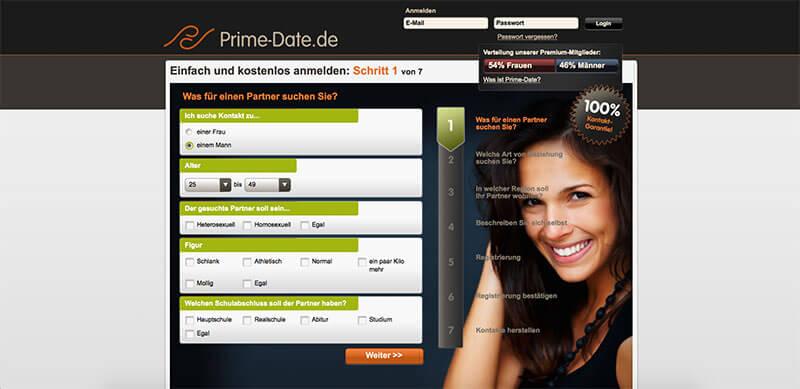 Prime-Date-Anmeldung