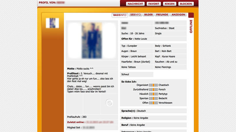GAYCHAT-Profil