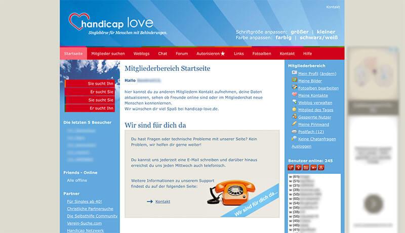Handicap-Love-Mitgliederbereich