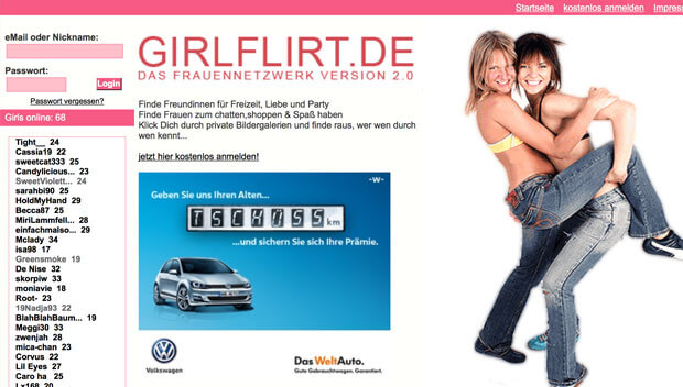 Girlflirt-Screen