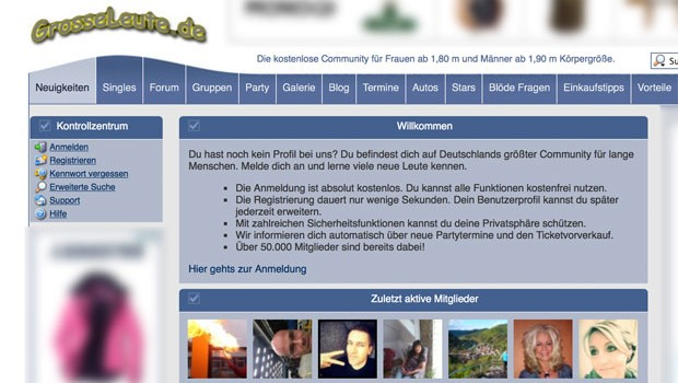 GrosseLeute.de-Screen