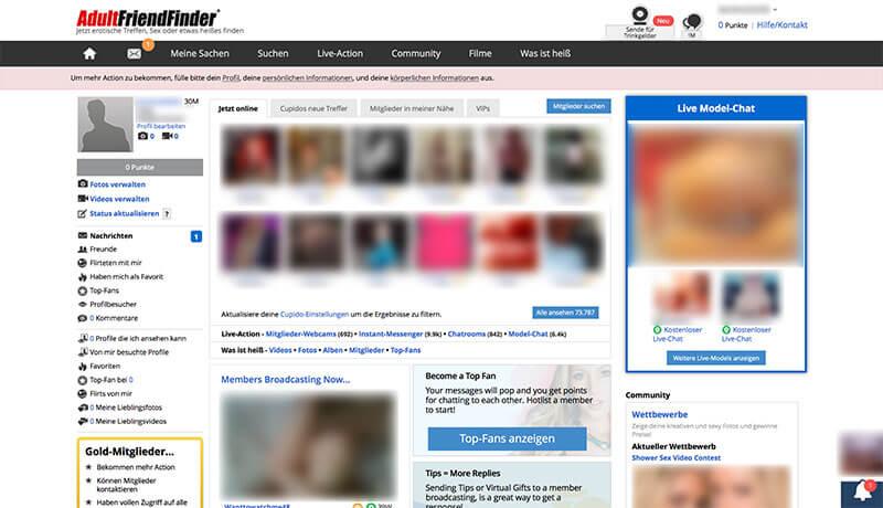 AdultFriendFinder-Mitgliederbereich