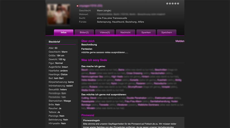 Fetisch.de-Profil