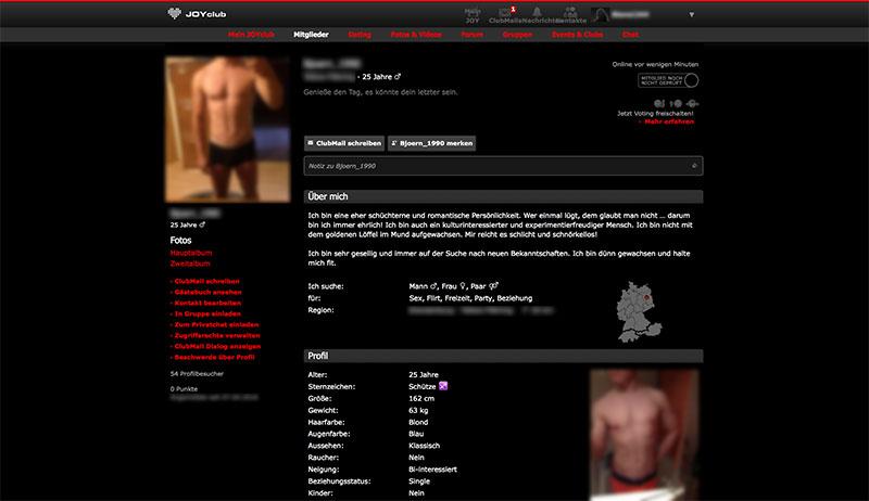 JOYclub-Profil