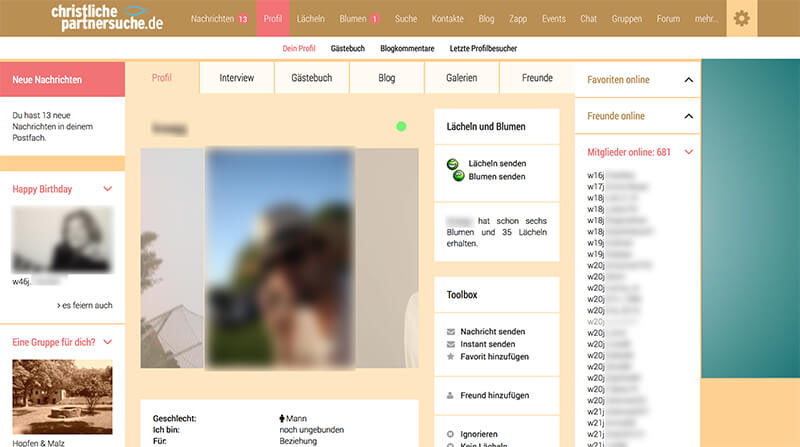 Partnersuche profil